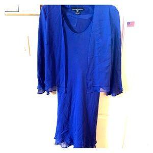 Jones New York size 2 Petite dress royal blue